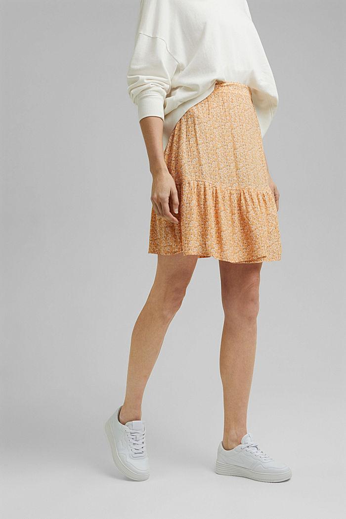 Flounce skirt made of LENZING™ ECOVERO™, ORANGE RED, detail image number 0