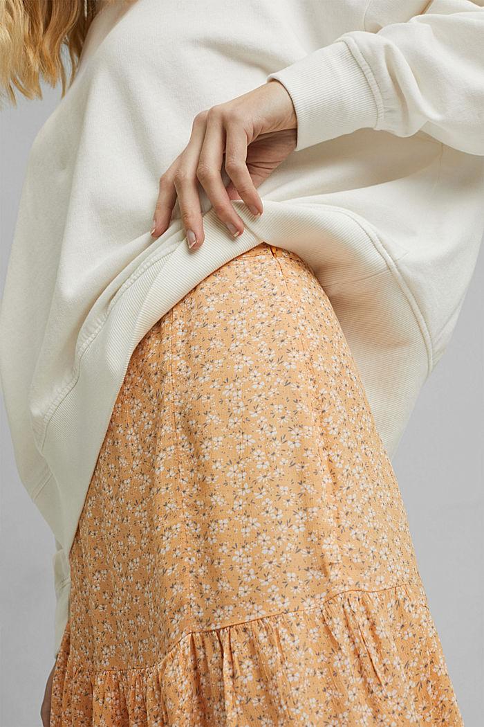 Flounce skirt made of LENZING™ ECOVERO™, ORANGE RED, detail image number 2