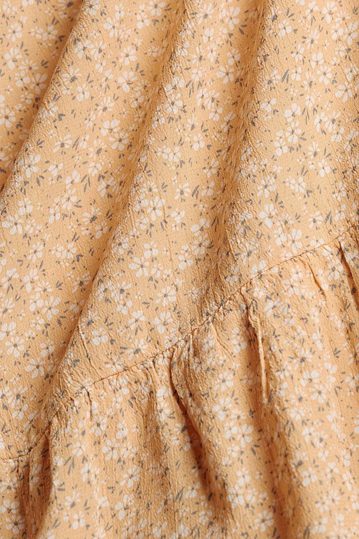 Flounce skirt made of LENZING™ ECOVERO™, ORANGE RED, detail image number 4