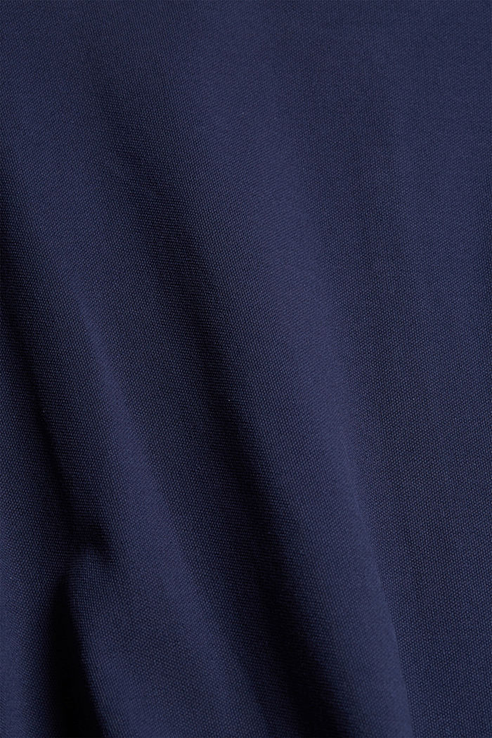 Polo dress with belt, organic cotton, NAVY, detail image number 4