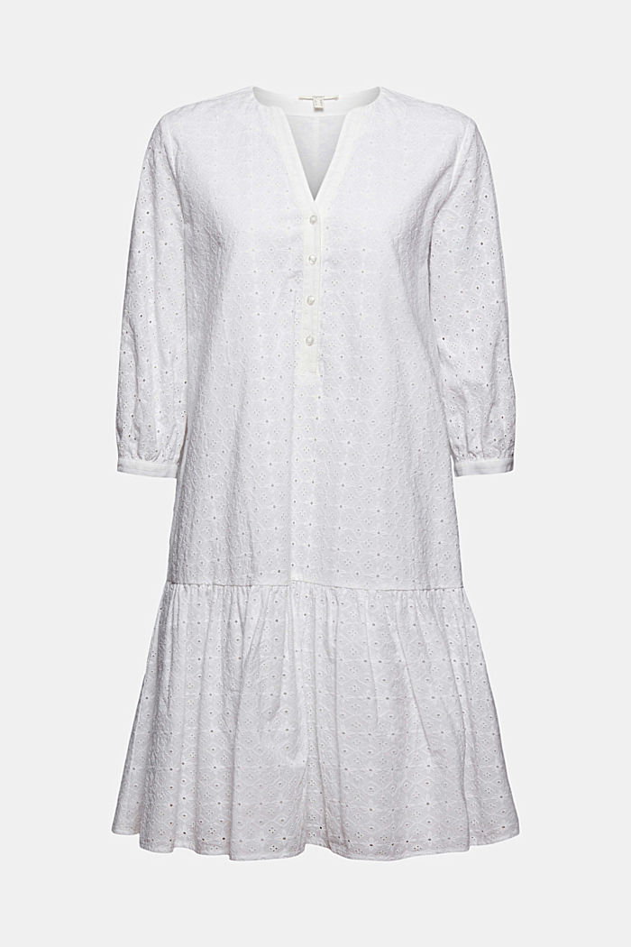 Kleid mit Lochstickerei, Organic Cotton