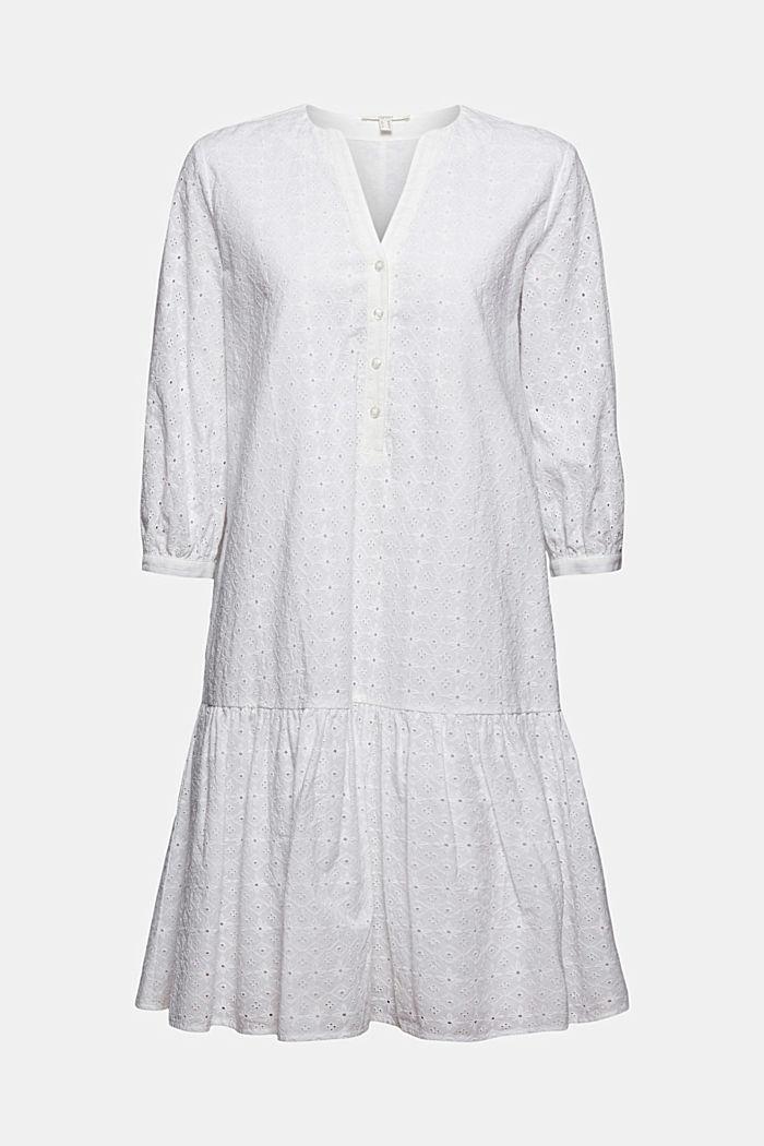 Robe ornée de broderie anglaise, coton biologique