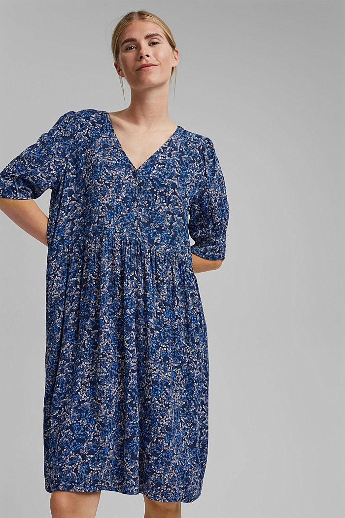 Mille-fleurs dress made of LENZING™ ECOVERO™, NAVY, detail image number 0