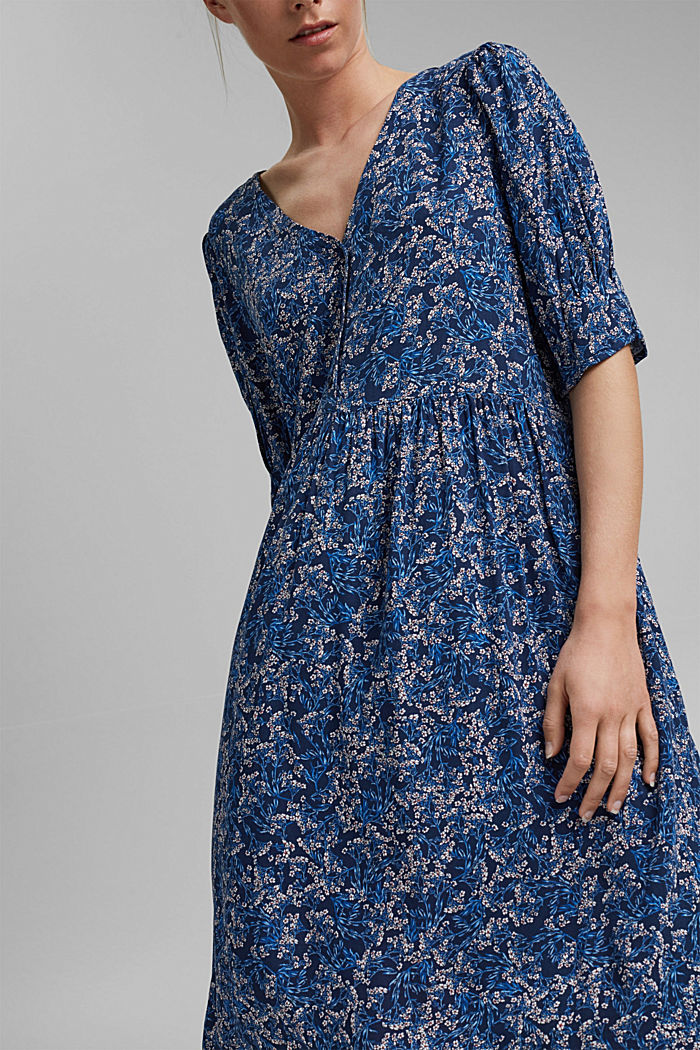 Mille-fleurs dress made of LENZING™ ECOVERO™, NAVY, detail image number 3