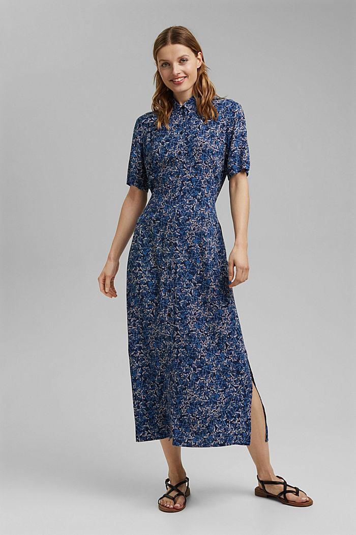 Shirt dress made of LENZING™ ECOVERO™, NAVY, detail image number 1
