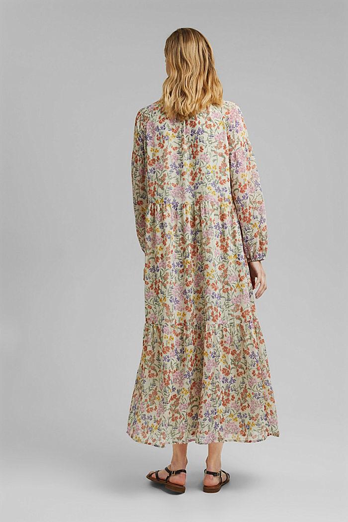 Z recyklingu: sukienka maxi z gniecionego szyfonu, OFF WHITE, detail image number 2