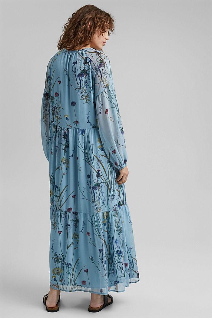 Z recyklingu: sukienka maxi z gniecionego szyfonu, LIGHT BLUE, detail image number 2