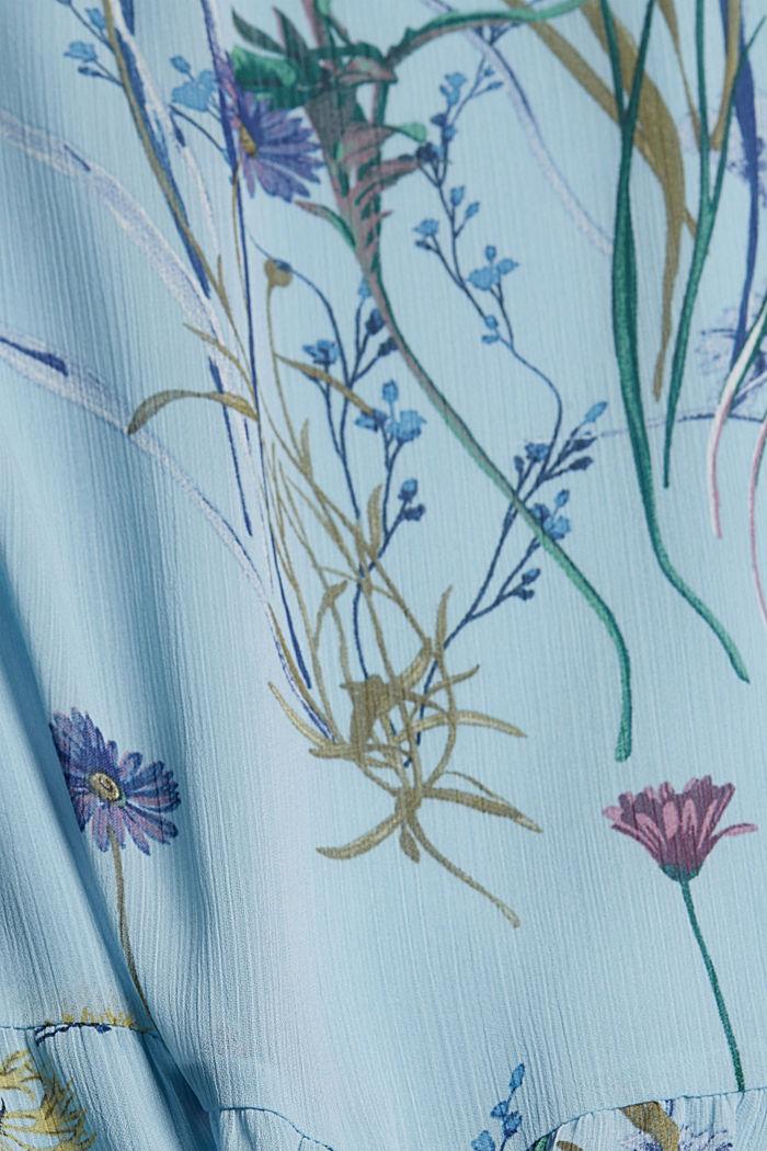 Z recyklingu: sukienka maxi z gniecionego szyfonu, LIGHT BLUE, detail image number 4