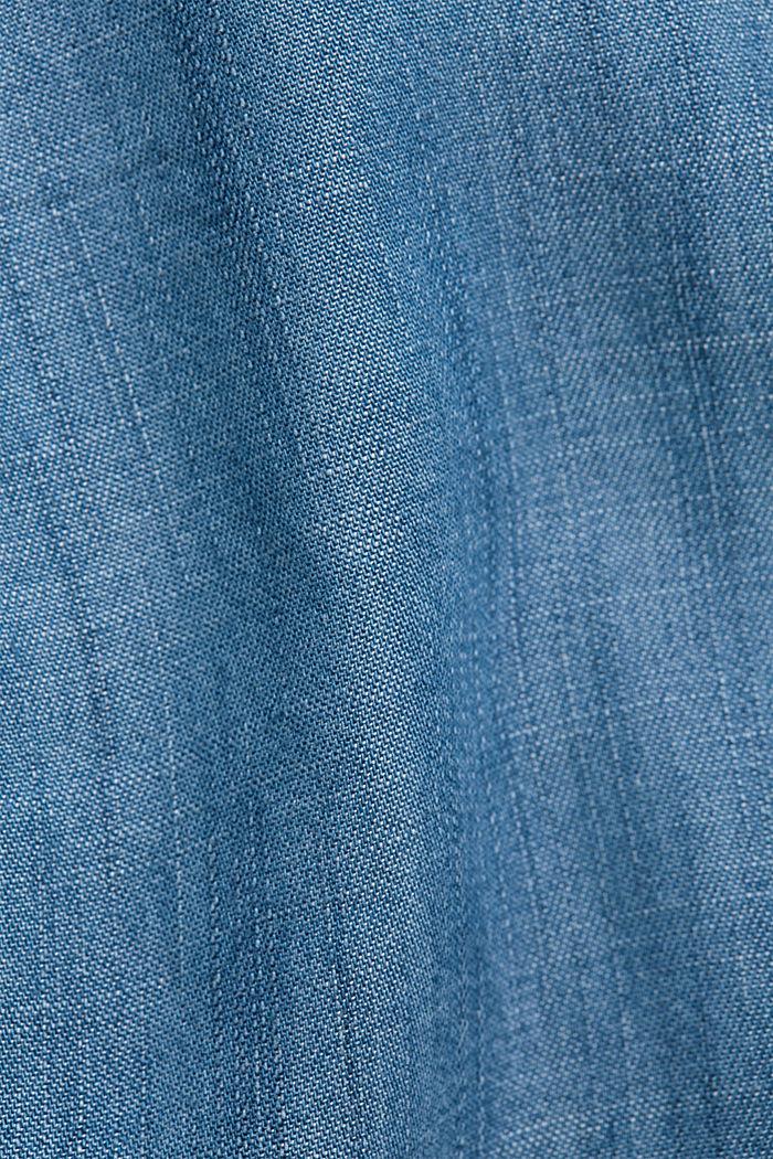 Made of TENCEL™: Denim dress with flounces, BLUE MEDIUM WASHED, detail image number 4