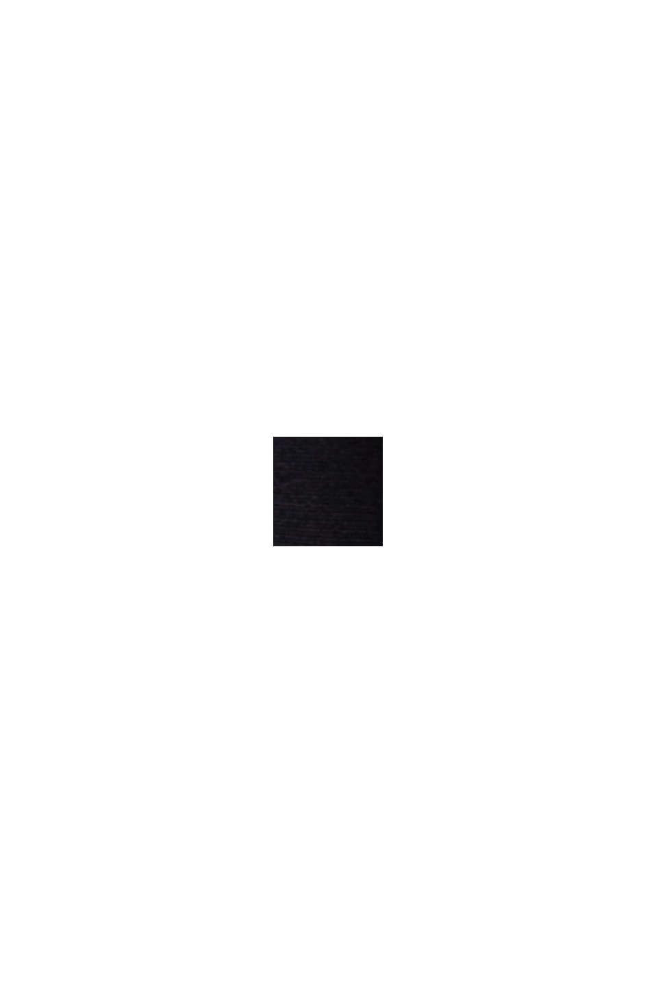 Recycelt: Midikleid mit Bindegürtel, BLACK, swatch