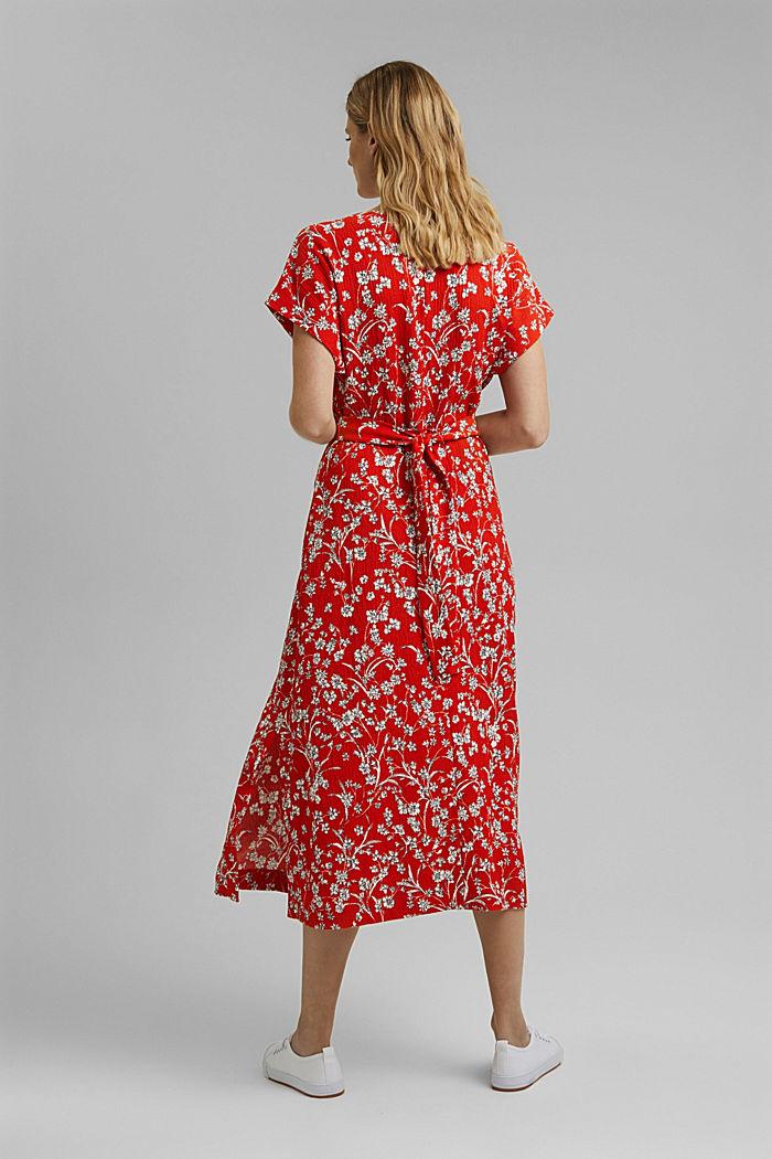 Recycelt: Jerseykleid mit Struktur, ORANGE RED, detail image number 2