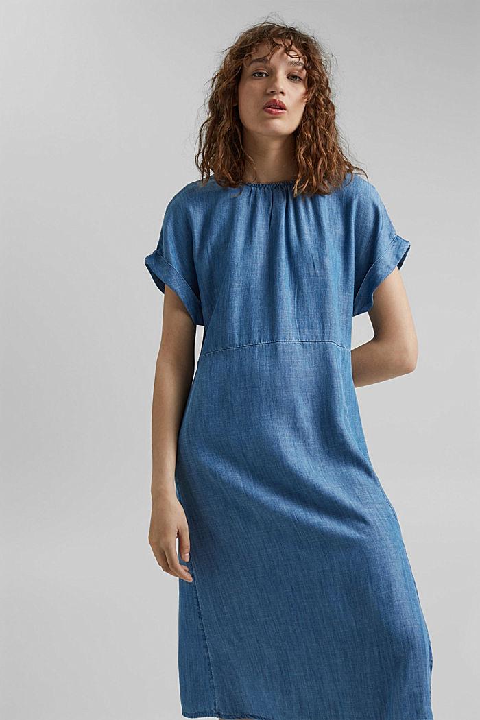 Aus TENCEL™: Kleid im Denimlook, BLUE MEDIUM WASHED, detail image number 5
