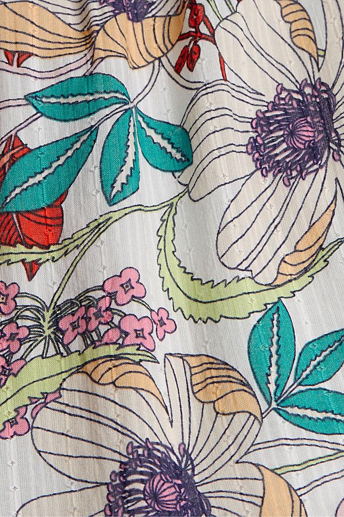 Overhemdjurk met print, organic cotton, OFF WHITE, detail image number 4