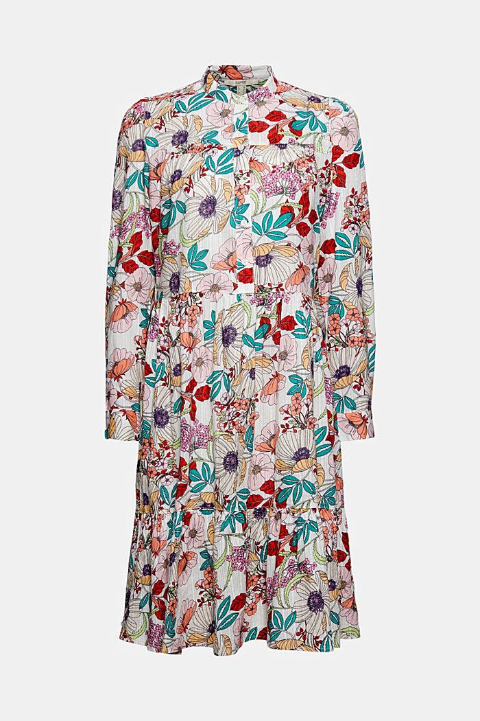 Organic cotton shirt dress with a print