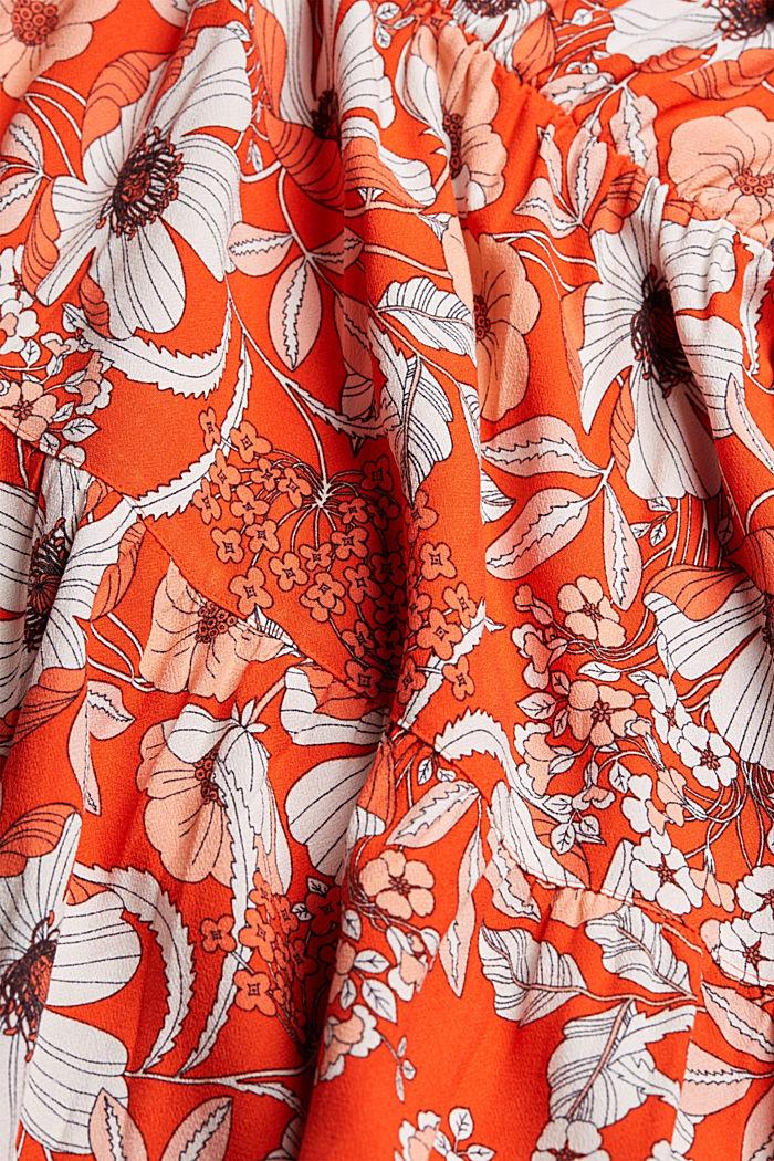 Printed midi dress, LENZING™ ECOVERO™, ORANGE RED, detail image number 4