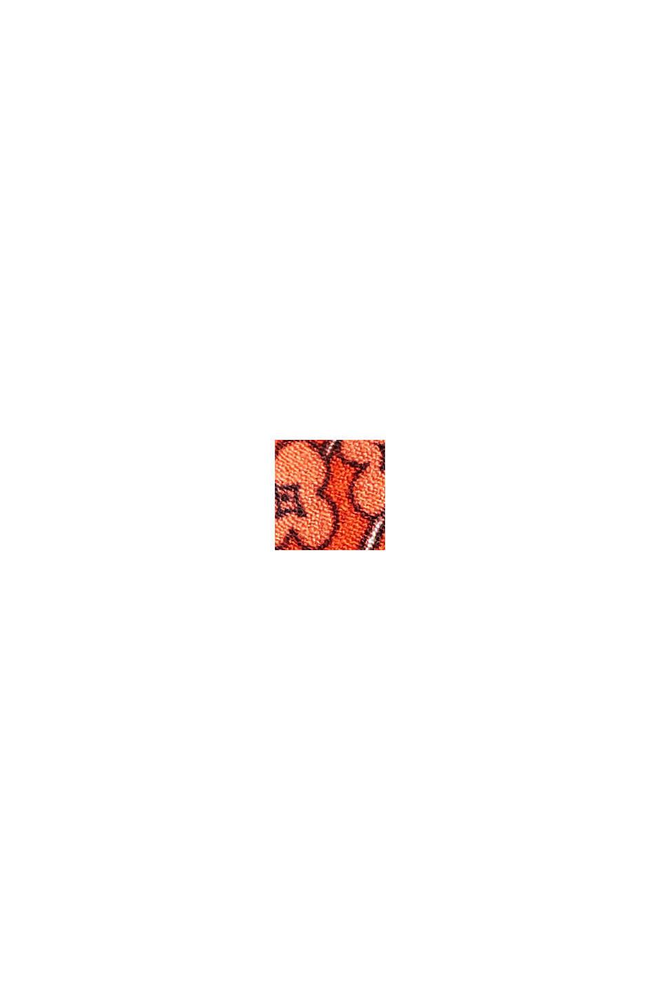 Robe longueur midi à imprimé, LENZING™ ECOVERO™, ORANGE RED, swatch