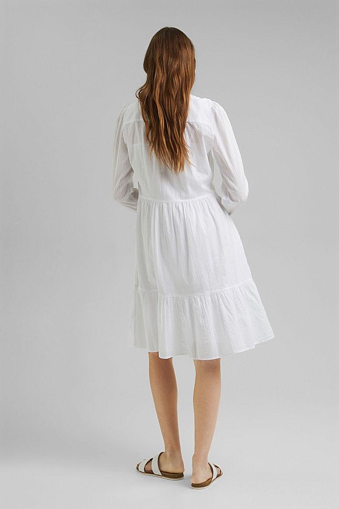 Hemdblusenkleid mit Volants, Organic Cotton, WHITE, detail image number 2