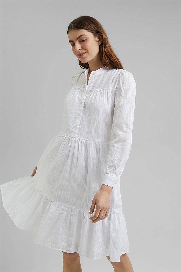 Vestido camisero con volantes, algodón ecológico