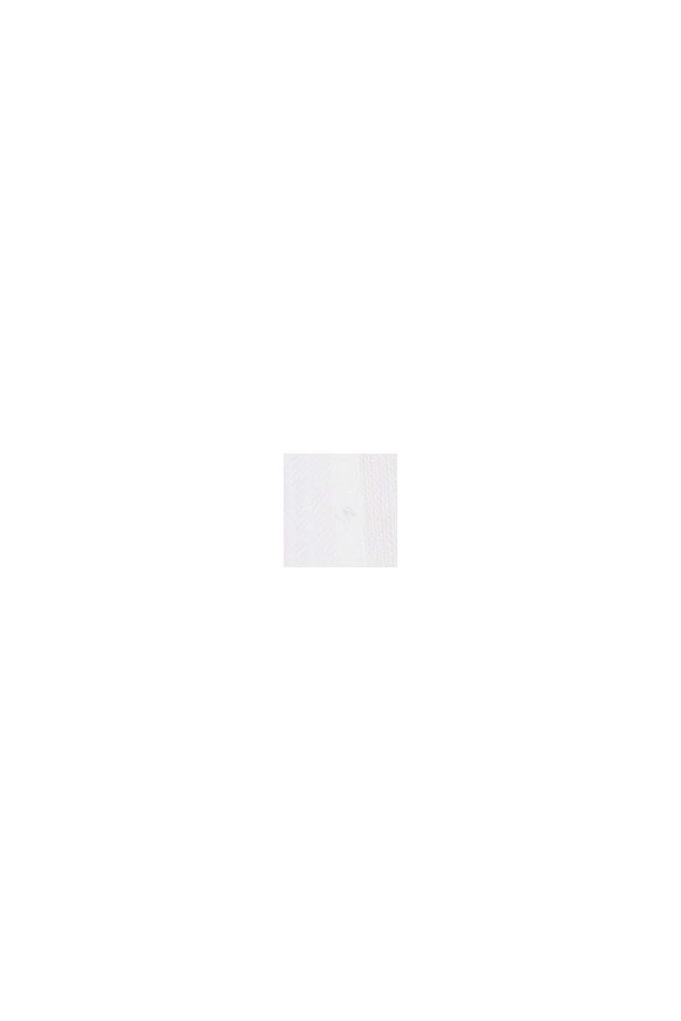 Hemdblusenkleid mit Volants, Organic Cotton, WHITE, swatch