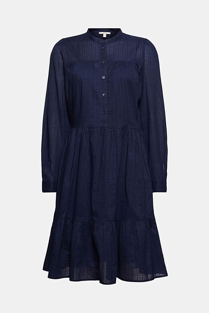 Hemdblusenkleid mit Volants, Organic Cotton