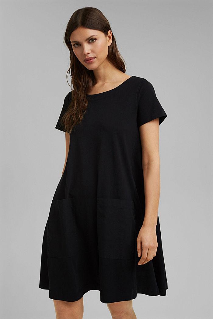 Jerseykleid aus Organic Cotton, BLACK, detail image number 0