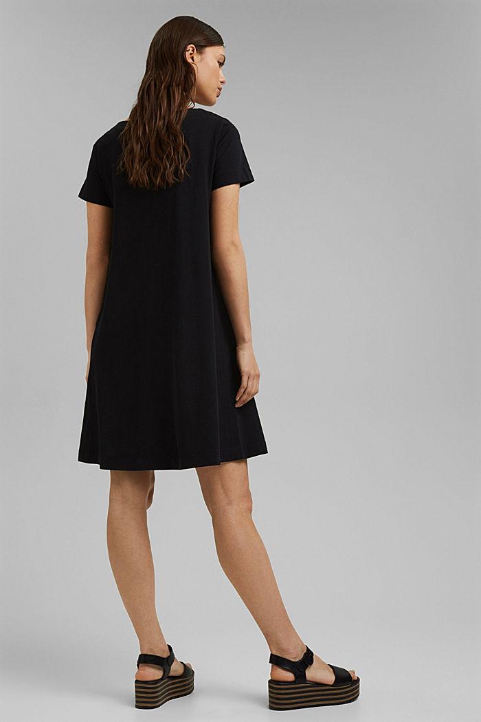Jersey dress in organic cotton, BLACK, detail image number 2