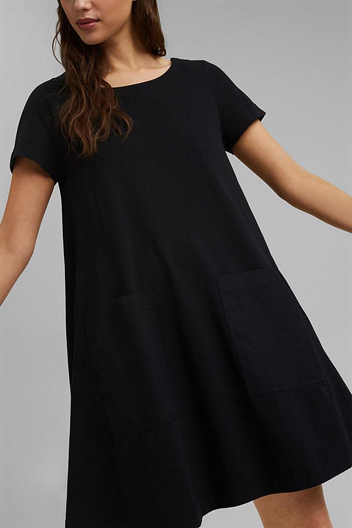 Jersey dress in organic cotton, BLACK, detail image number 3