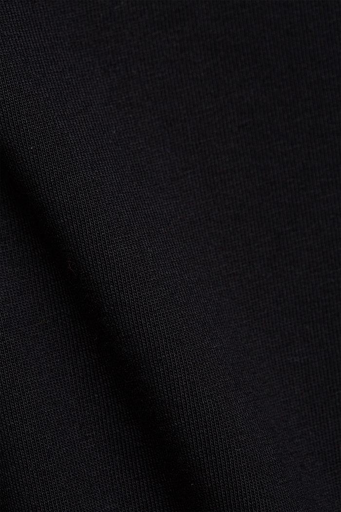 Jersey dress in organic cotton, BLACK, detail image number 4