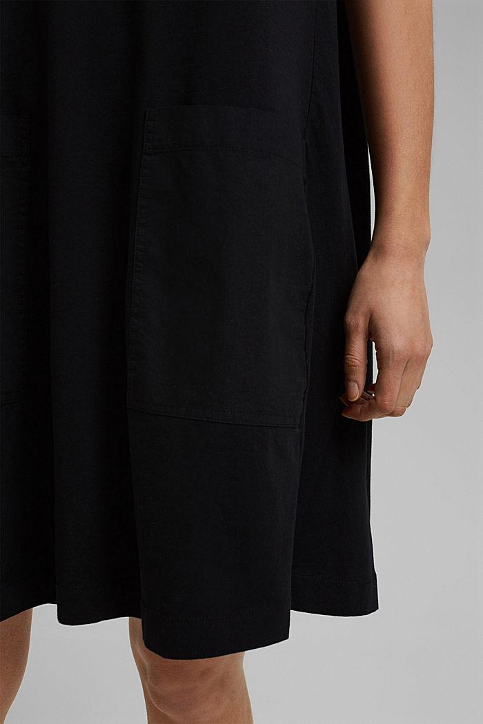 Jersey dress in organic cotton, BLACK, detail image number 5