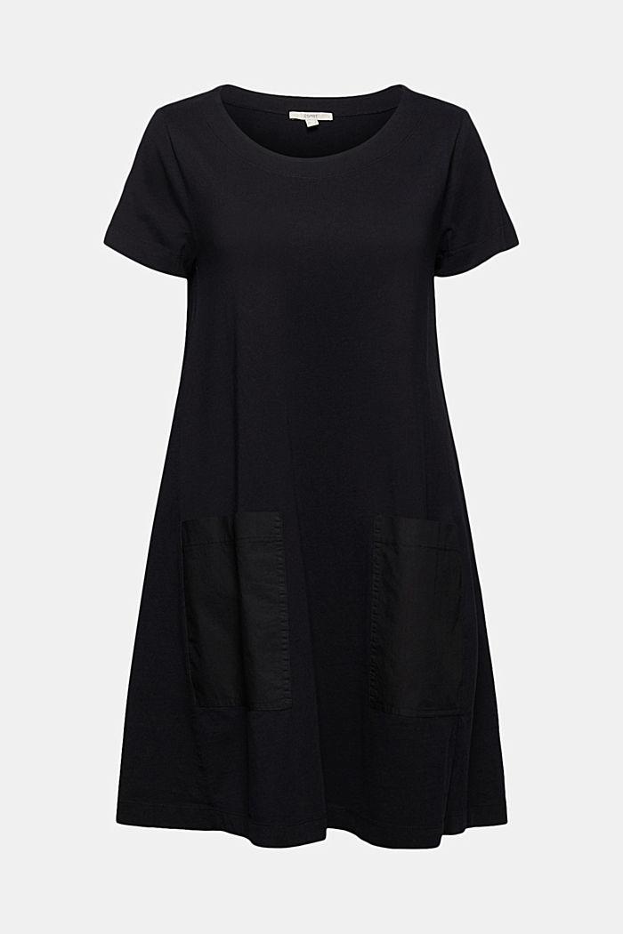 Jersey dress in organic cotton, BLACK, detail image number 7