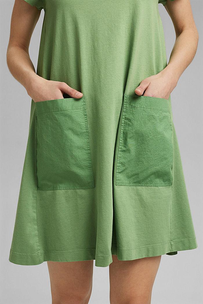Robe en jersey de coton biologique, LEAF GREEN, detail image number 3