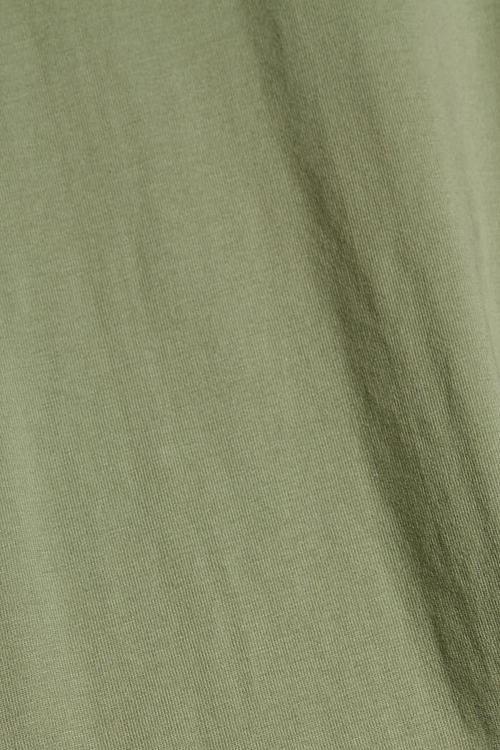 Vestido de jersey realizado en algodón ecológico, LIGHT KHAKI, detail image number 4