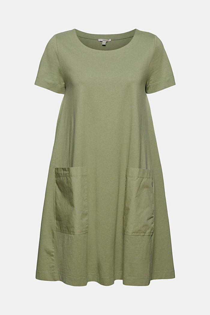 Vestido de jersey realizado en algodón ecológico, LIGHT KHAKI, detail image number 5