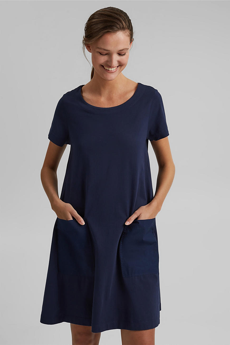 Jersey dress in organic cotton