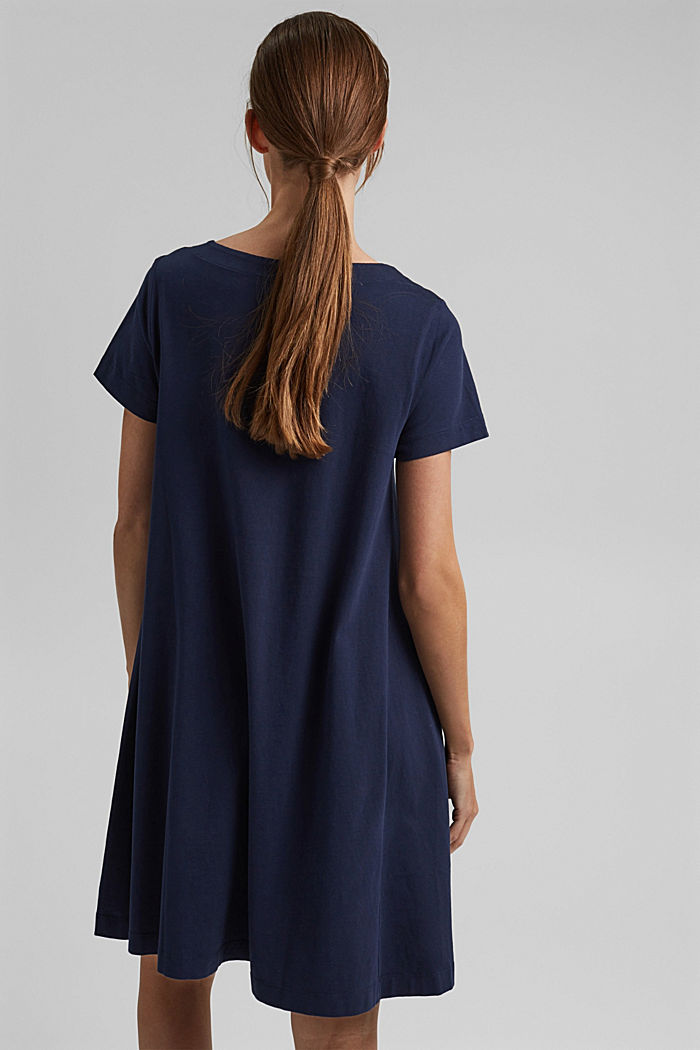 Jersey dress in organic cotton, NAVY, detail image number 2
