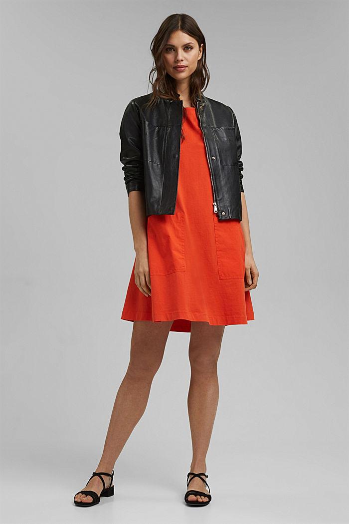 Jersey dress in organic cotton, ORANGE RED, detail image number 1