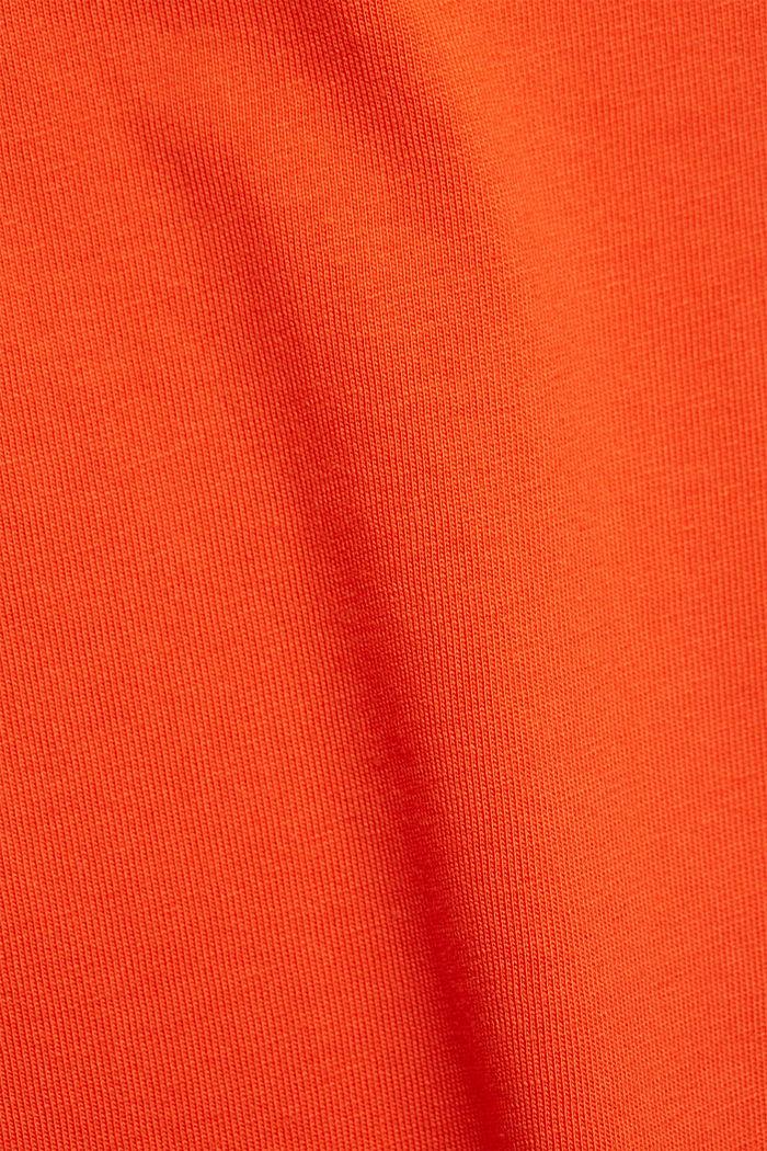 Jersey dress in organic cotton, ORANGE RED, detail image number 4