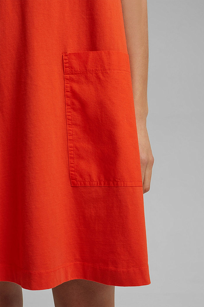 Jersey dress in organic cotton, ORANGE RED, detail image number 5