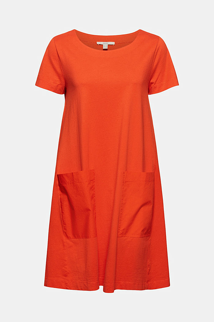 Jersey dress in organic cotton, ORANGE RED, detail image number 6