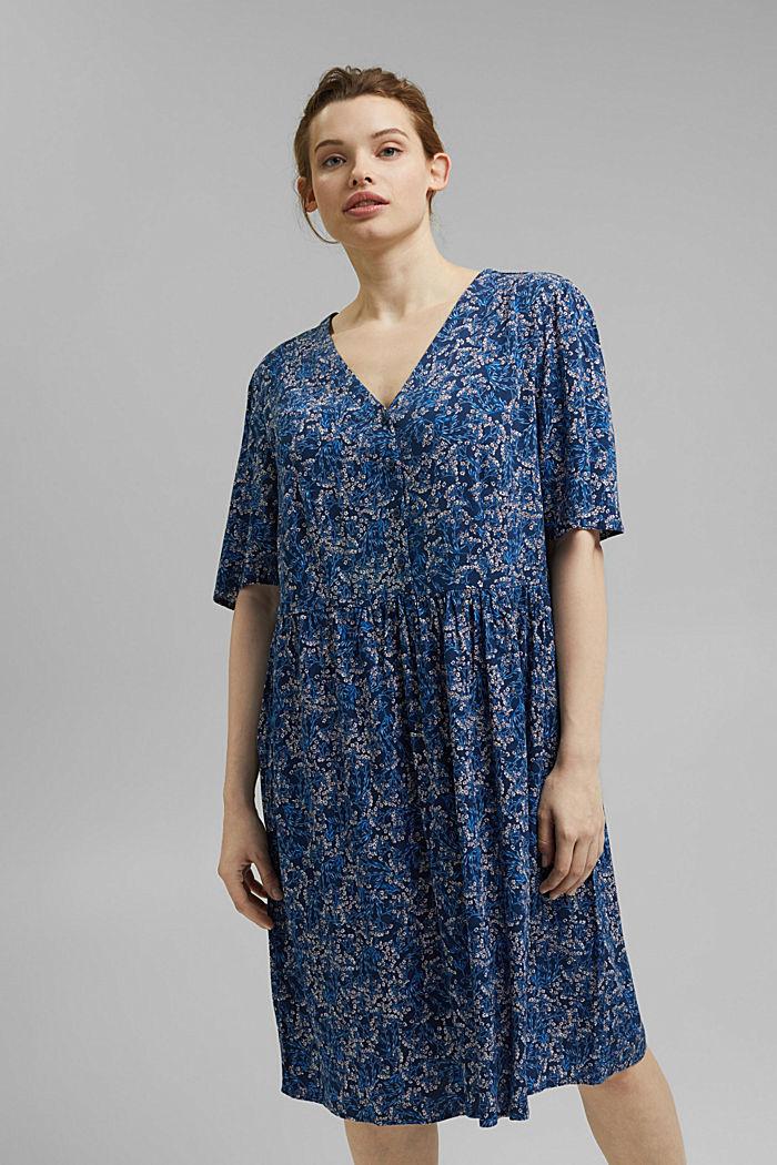 Millefleurs-Kleid aus LENZING™ ECOVERO™, NAVY, detail image number 0