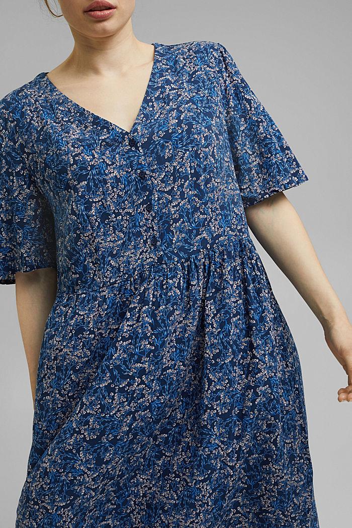 Millefleurs-Kleid aus LENZING™ ECOVERO™, NAVY, detail image number 3