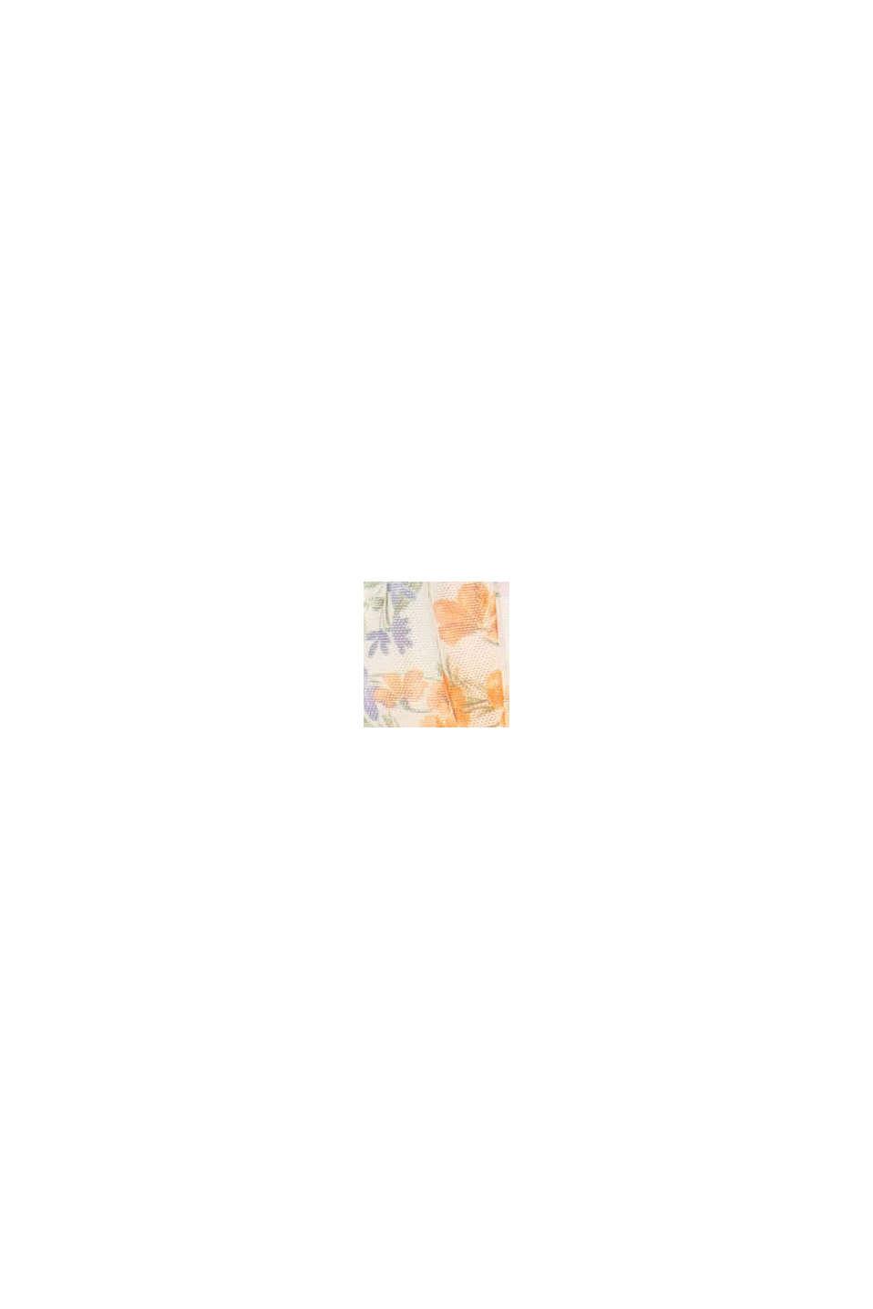 CURVY-verkkokangasmekko, jossa liehukkeet ja painatus, OFF WHITE, swatch