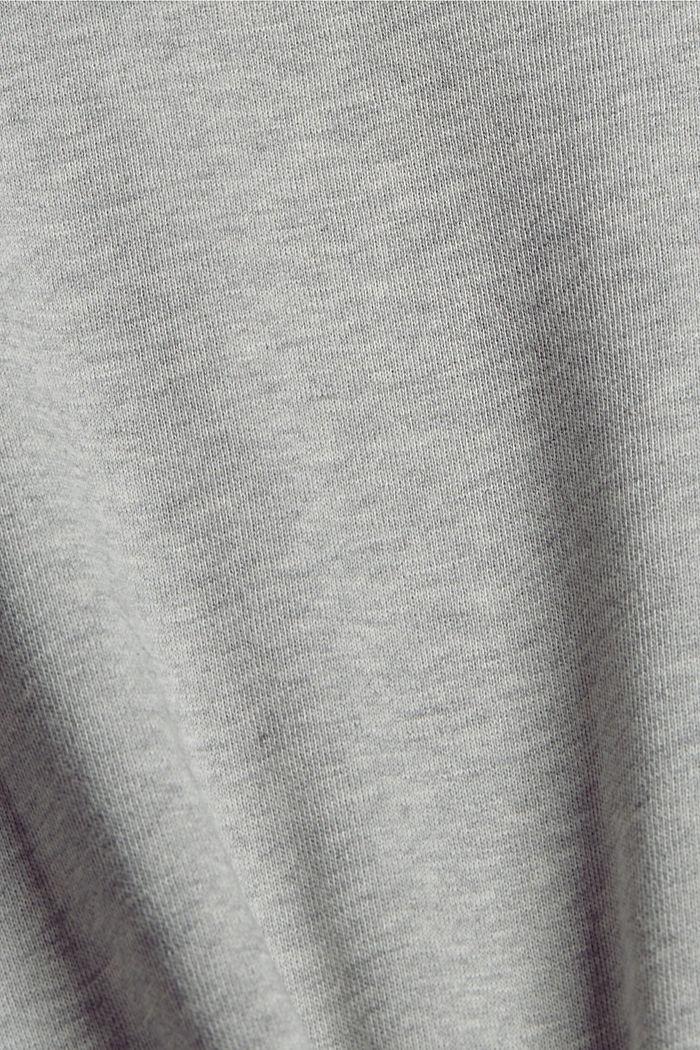 Sweatjurk van 100% katoen, LIGHT GREY, detail image number 4
