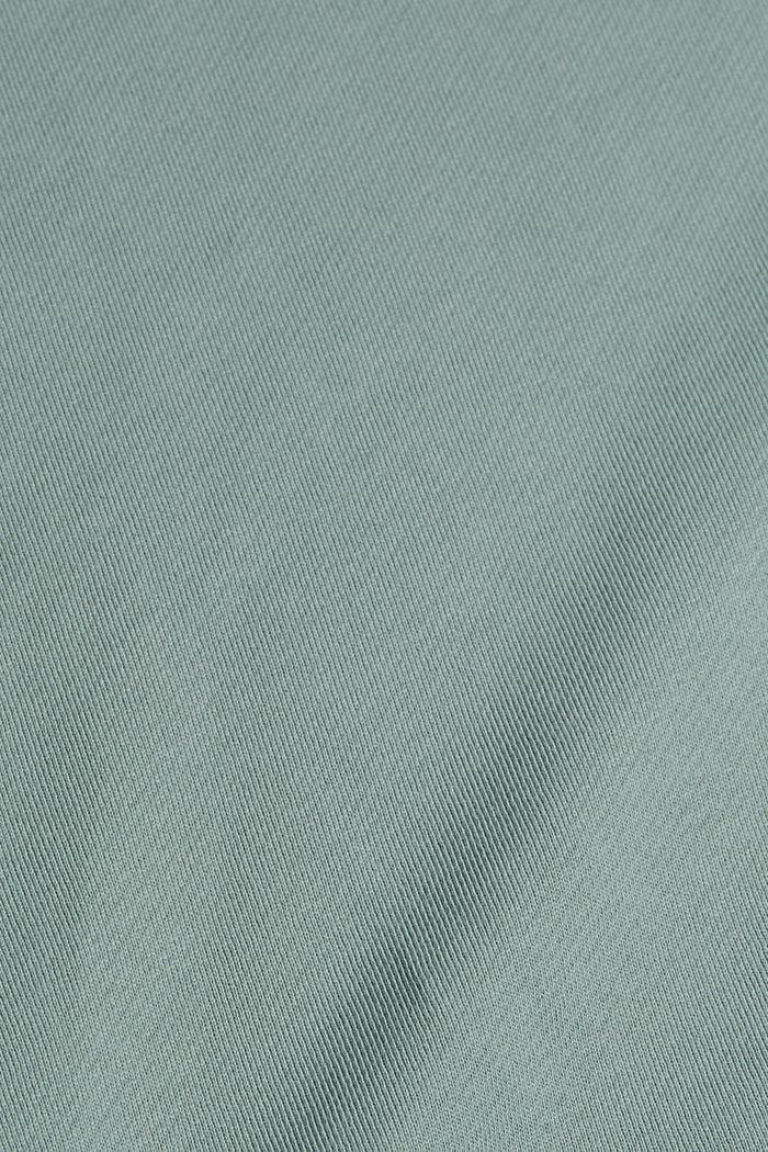 Sweatshirt dress in 100% cotton, TURQUOISE, detail image number 4