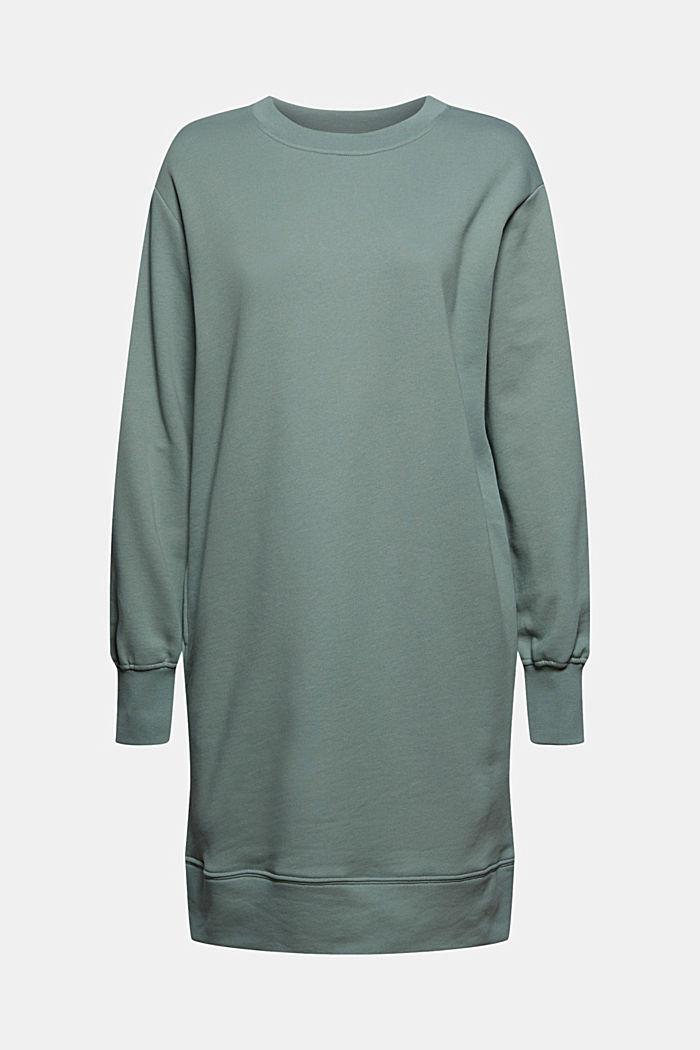 Sweatshirt dress in 100% cotton, TURQUOISE, detail image number 5