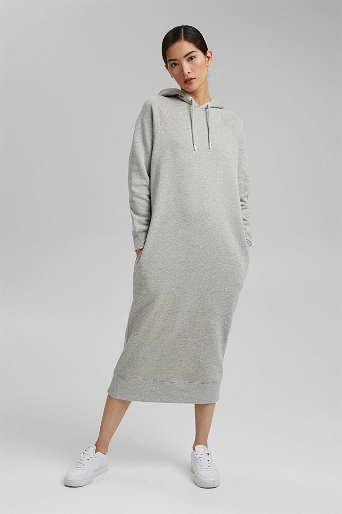 Sweatkleid in Midilänge aus Baumwolle