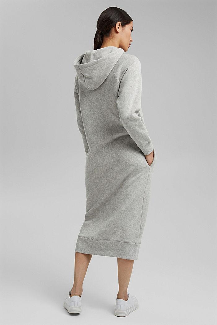 Sweatkleid in Midilänge aus Baumwolle, LIGHT GREY, detail image number 2