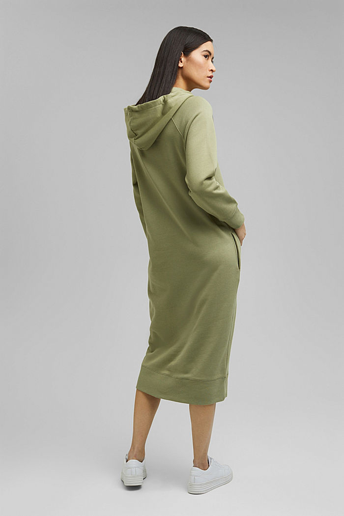 Sweatkleid in Midilänge aus Baumwolle, LIGHT KHAKI, detail image number 2