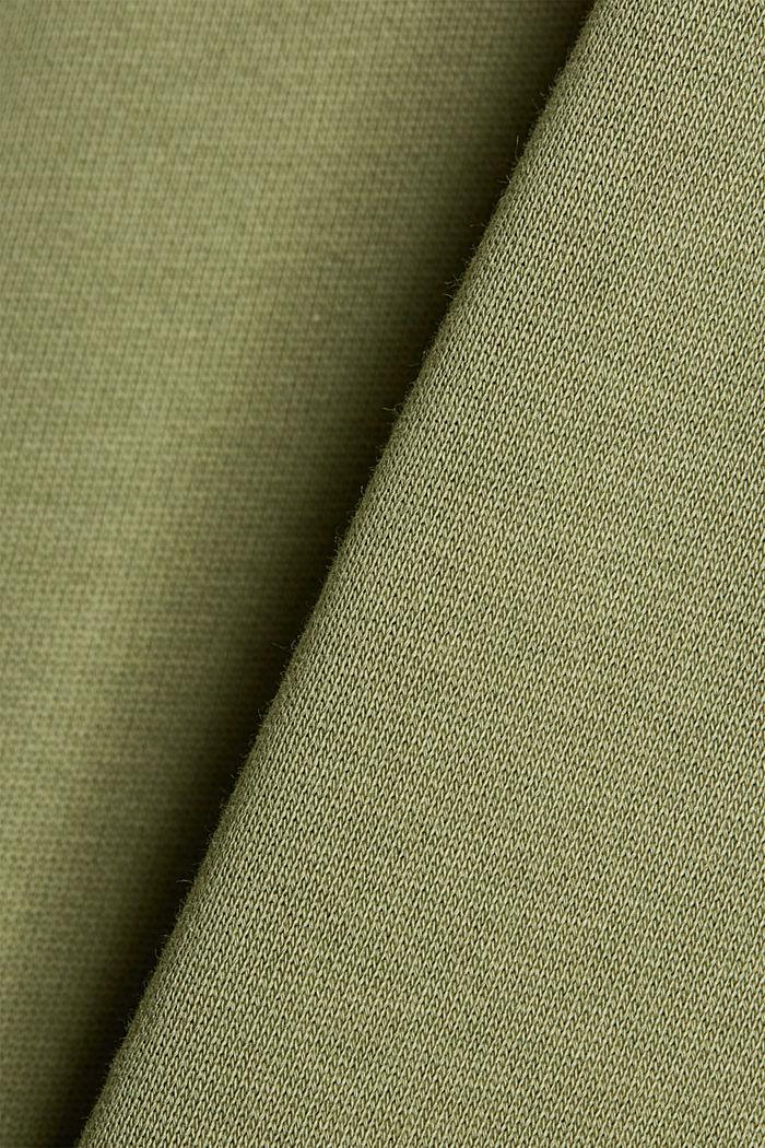 Sweatkleid in Midilänge aus Baumwolle, LIGHT KHAKI, detail image number 4