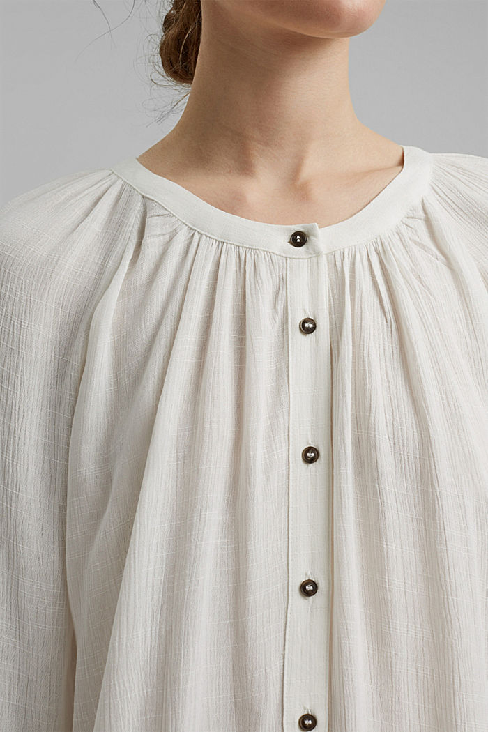 Crinkle blouse made of LENZING™ ECOVERO™, OFF WHITE, detail image number 2